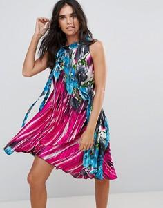 Платье с халтером и цветочным принтом Pussycat London - Мульти