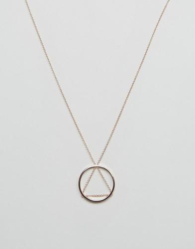Ожерелье с треугольной подвеской и подвеской-кольцом Cheap Monday - Золотой