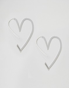 Серьги в форме сердец Cheap Monday - Серебряный