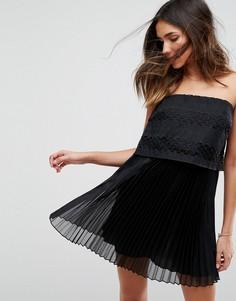 Платье-бандо мини Isla Edie - Черный