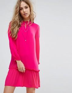 Платье с оборкой на подоле Only - Розовый