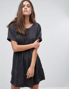 Платье цвета денима Pepe Jeans Lorette - Черный