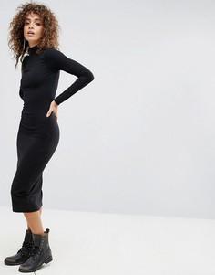 Узкое платье с воротником-стойкой G-Star - Черный