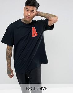 Свободная черная футболка Reclaimed Vintage Inspired - Черный