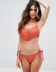 Купальник-бикини с бахромой South Beach - Оранжевый