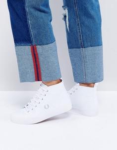 Высокие кожаные кроссовки Fred Perry - Белый