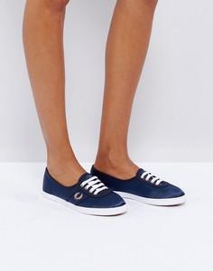 Атласные кроссовки Fred Perry Aubrey - Темно-синий