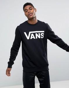 Классический черный свитшот с круглым вырезом Vans V00YX0Y28 - Черный