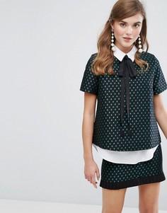 Рубашка без пуговиц с узором в виде звезд Sister Jane - Черный