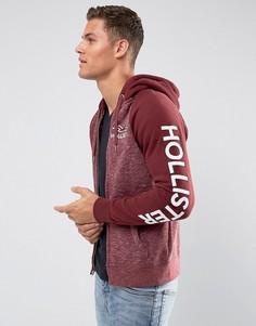 Худи на молнии с логотипом Hollister - Красный