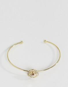 Ультраузкий браслет-манжет с кристаллами Ted Baker Sappelle - Золотой