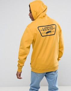 Худи желтого цвета со вставками Vans VA2WF750X - Желтый