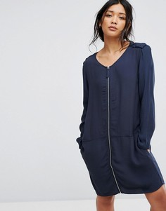 Платье-футболка Moss Copenhagen - Синий