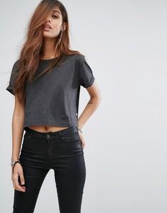Укороченная футболка G-Star Aeria - Черный
