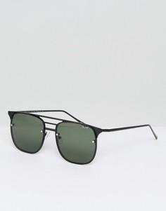 Черные солнцезащитные очки-авиаторы Quay Australia Hendrix - Черный