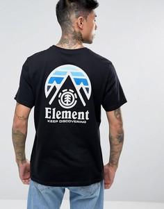 Черная футболка с логотипом на спине Element Tri Tip - Черный