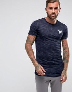 Темно-синяя обтягивающая меланжевая футболка Good For Nothing - Темно-синий