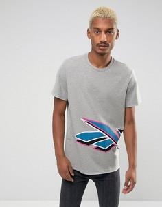 Серая футболка Reebok Lost & Found BR0228 - Серый