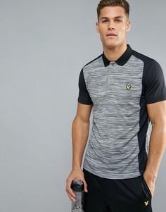 Серая меланжевая спортивная футболка-поло Lyle & Scott Fitness Campbell - Серый