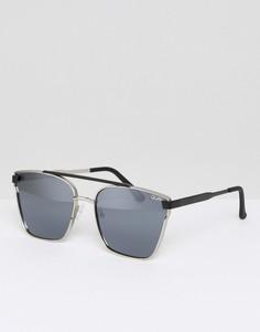 Солнцезащитные очки-авиаторы Quay Australia Cassius - Серебряный