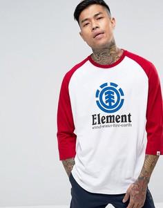 Красно-белая футболка с рукавами реглан и логотипом Element - Белый