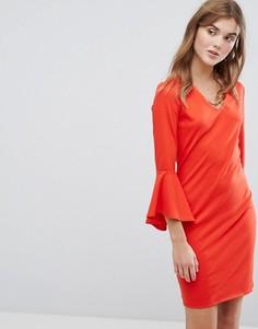 Платье с рукавами-клеш Vila - Красный