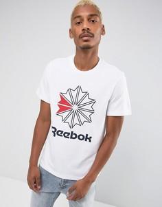 Белая футболка с логотипом Reebok BQ3474 - Белый