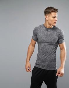 Темно-серая бесшовная футболка New Look SPORT - Серый
