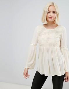 Блузка с широкими рукавами Only Lupina - Бежевый