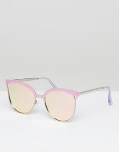 Розовые солнцезащитные очки «кошачий глаз» Quay Australia - Розовый