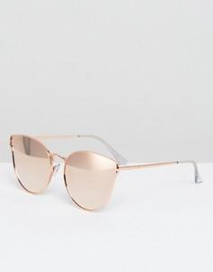 Розовые солнцезащитные очки кошачий глаз Quay Australia All My Love - Розовый