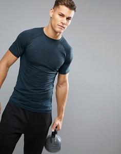 Темно-синяя бесшовная футболка New Look SPORT - Синий