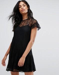 Кружевное платье на бретельках Vero Moda - Черный