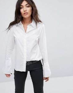 Рубашка с расклешенными манжетами Noisy May - Белый