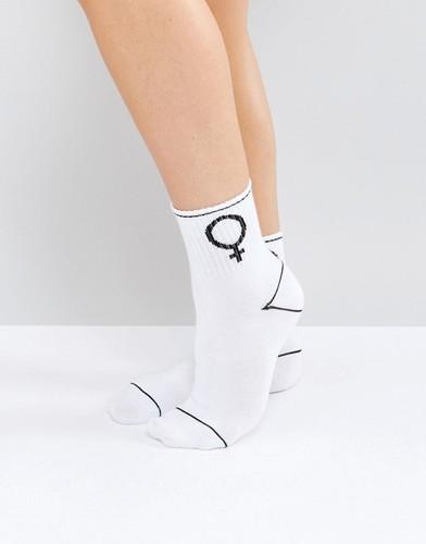 Спортивные носки Monki Girl Sign - Красный
