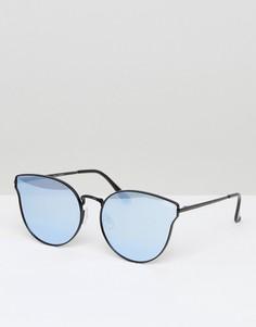 Черные солнцезащитные очки кошачий глаз Quay Australia All My Love - Черный