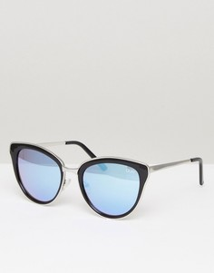 Черно-сиреневые солнцезащитные очки кошачий глаз Quay Australia Every Little Thing - Черный