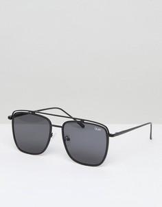 Черные солнцезащитные очки-авиаторы Quay Australia Mr Black - Черный