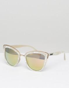 Солнцезащитные очки кошачий глаз в белой оправе Quay Australia My Girl - Белый