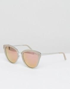Серебристо-розовые солнцезащитные очки кошачий глаз Quay Australia Every Little Thing - Серебряный