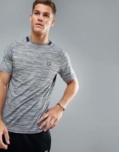 Спортивная меланжевая футболка с контрастной отделкой Lyle & Scott Fitness Jones - Серый