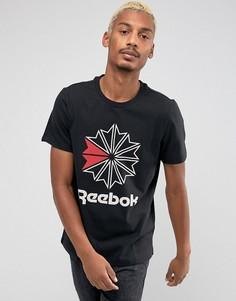 Черная футболка с логотипом Reebok BQ3505 - Черный