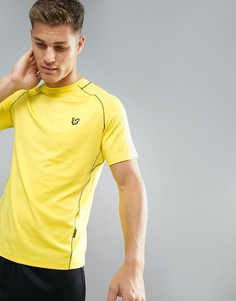 Желтая спортивная футболка с контрастной отделкой Lyle & Scott Fitness Jones - Желтый