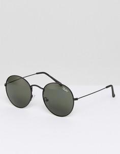Круглые солнцезащитные очки Quay Australia Mod Star - Черный