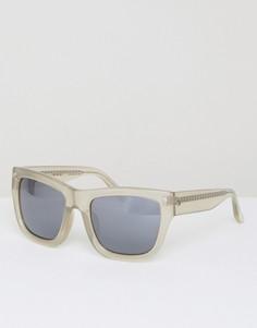 Квадратные солнцезащитные очки с зеркальными стеклами Matthew Williamson - Серый
