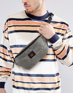 Стеганая сумка-кошелек на пояс цвета хаки ASOS - Зеленый