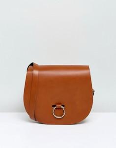 Сумка с застежкой-кольцом Leather Satchel Company - Рыжий
