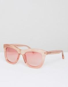 Солнцезащитные очки в розовой блестящей оправе с розовыми стеклами Markus Lupfer - Розовый