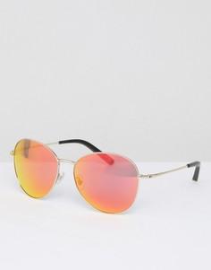Солнцезащитные очки с красными затемненными стеклами Matthew Williamson - Красный