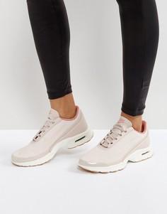 Розовые кожаные кроссовки Nike Air Max - Розовый
